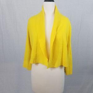 Calvin Klein sweater cardigan yellow